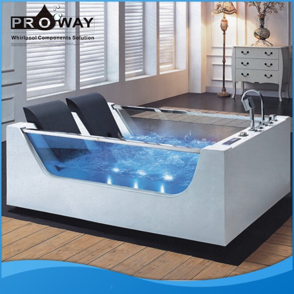 Glass Bathtub proway acrylic material hydromassage whirlpool small european