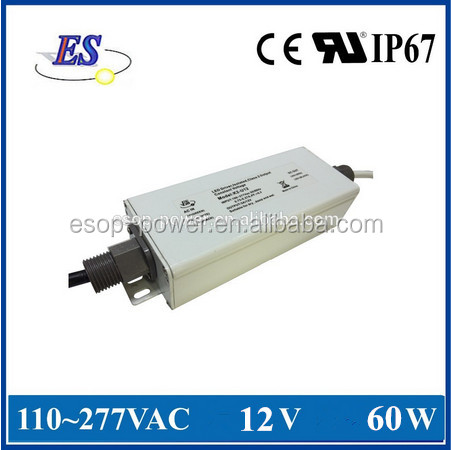 60W 12V 5A High Power Constant Voltage LED Driver with 1-10V Dimming