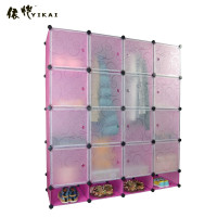 Hottest DIY Plastic Bedroom Cube Storage Cabinet YK-1029