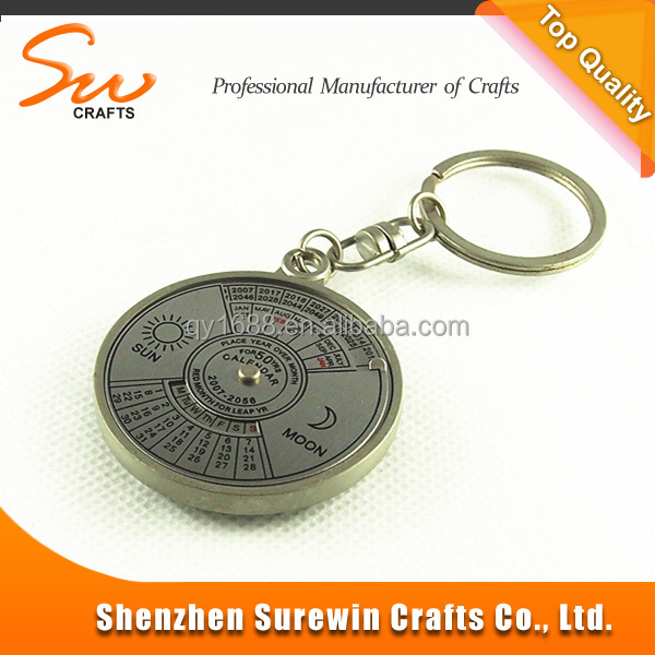 fashion cheap promotional metal compass keychain