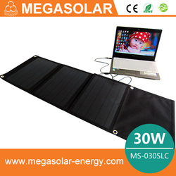 solar bicycle bag mobile flexible solar charger 30W hot selling Folding Solar Charger Bag