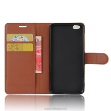 wholesale leather mobile case for xiaomi 5c flip wallet cell phone case for xiaomi 5c with Card slot stand and Lanyard