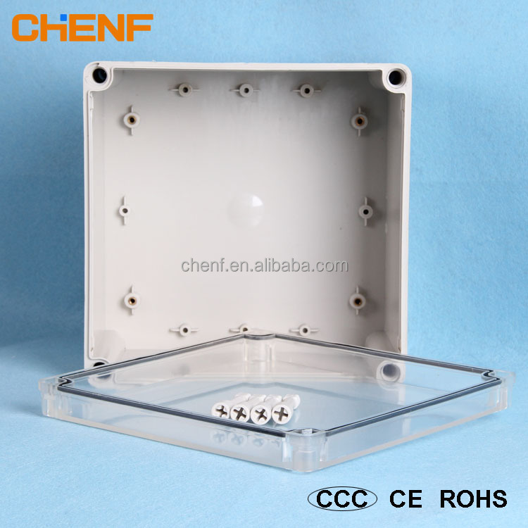 China supplier IP66 waterproof plastic enclosure electrical terminal box with clear cover