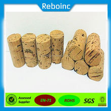 Wholesale wooden synthetic round small glass bottle wooden cork manufacturers, cork stopper