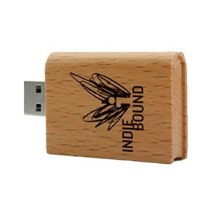 Bulk cheap customized laser engraving logo 4gb raw wood material book shaped usb flash drive