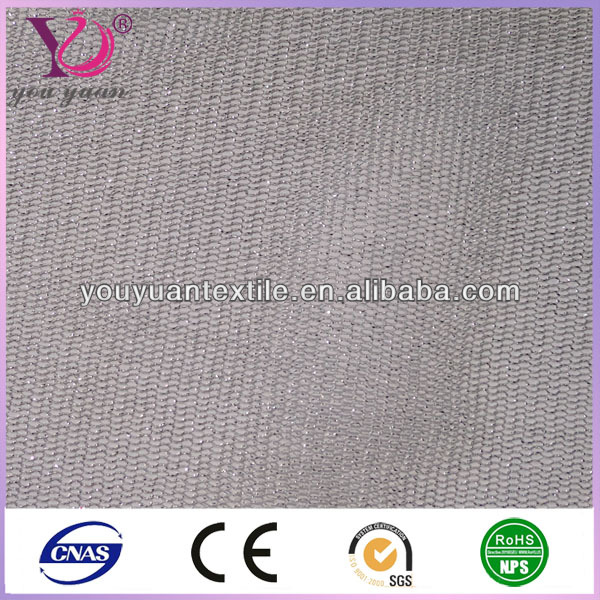 Hexagonal wire netting silver thread mesh fabric for bus upholstery fabric