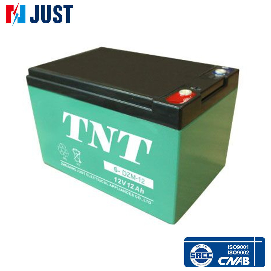 Maintenance free 12v 12ah 6-dzm-12 electric scooter battery for cheap price