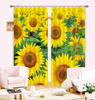 Large sunflower printed floral window curtains for bedroom decoration