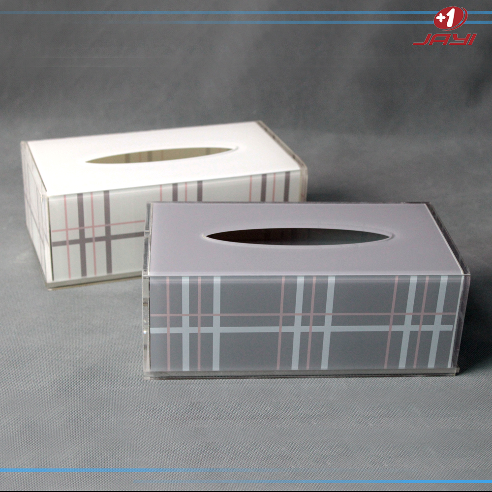 Alibaba China custom printed acrylic lucite plastic tissue box holder for car