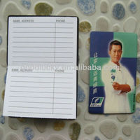 promotion gift magnetic telephone number book