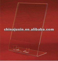 Clear acrylic 4x6 counter display sign holder w / business card holder