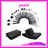 YASHI New Professional Makeup Brush Set 29 pcs Kit w/ Leather Bag Holder Travel Bag