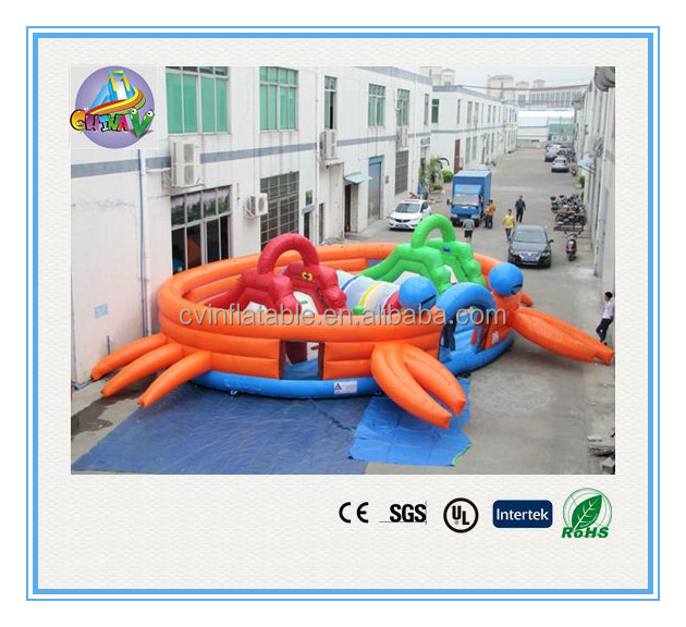 Commercial inflatable shrimp playland, inflatable children's playground, inflatable big obstacle bouncer with slides on sales