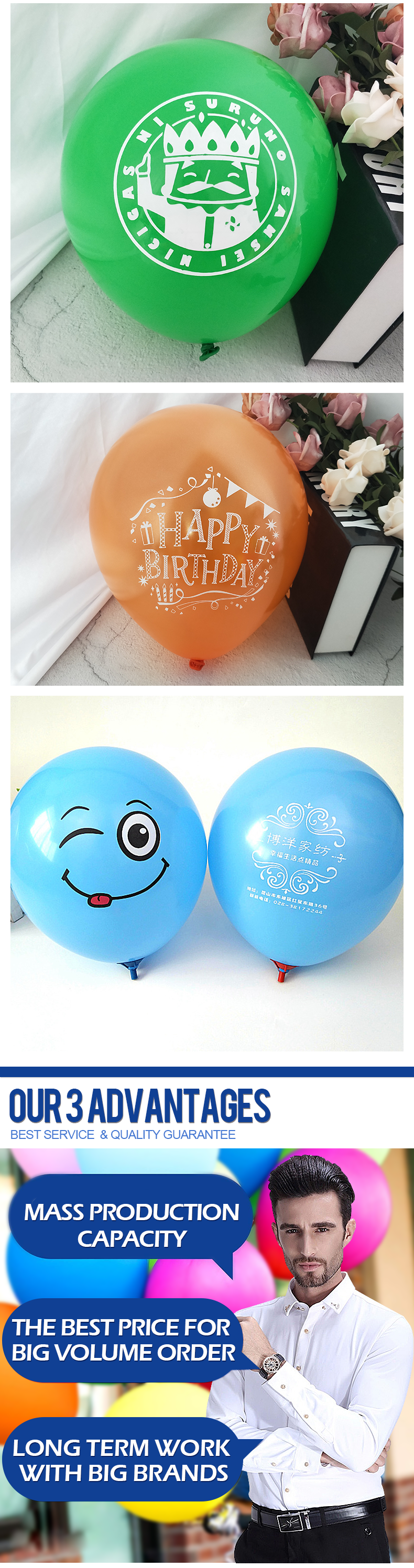 Factory wholesale  customized logo printed latex balloon for promotion