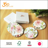 4mm sublimation wood mdf coaster, cork coaster set