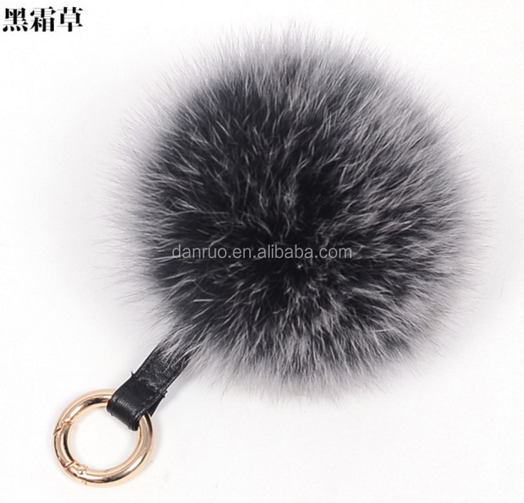 Manufacturers supply all kinds of material hair ball 9-15cm Fox fur ball phone accessories DIY shoe bag clothing accessories