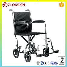 High quality fold transport care 8 inch rear wheel wheelchair