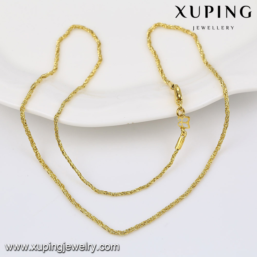 42948 xuping latest design saudi gold jewelry necklace, 14k gold color bar costume jewelry necklace