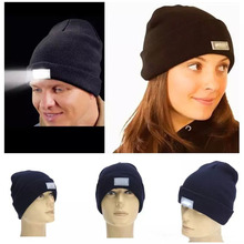 5 LED light Beanies Hat Winter Hands Free Warm Beanie Angling Hunting Camping Running Caps