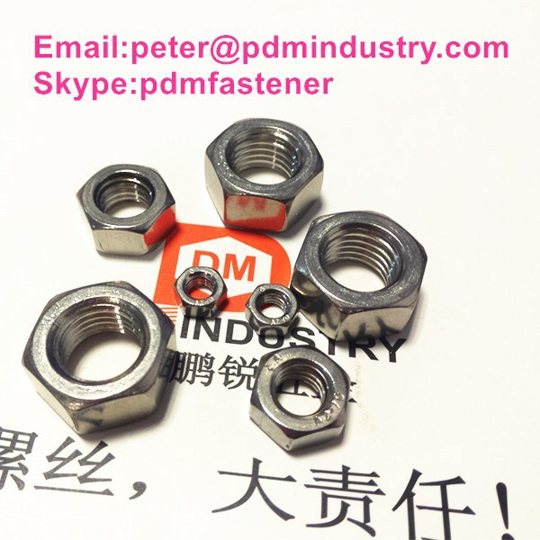 stainless steel 304 DIN934 M20 hex nut