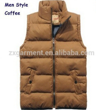 women's padded down jackets New Arrival Winter Sleeveless Multicolor winter fishing vest male sleeveless jacket clothing vest