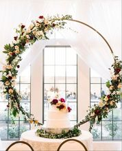 Small Size Round Metal Arch for Table Centerpiece Flower Stand for <strong>Weddings</strong> 10pcs/lot