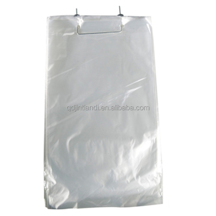 China supply clear food grade poly wicket bags ice bags bread bags with printing