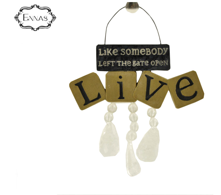 Custom resin words card plates hanging with hanging ear