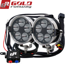 Mini work light !!Led Motorcycle Headlight 50W extra light, Car Accessories for offroad truck