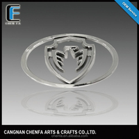 Factory price auto parts accessories 3d chrome car logo