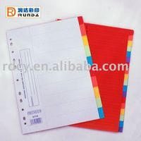 New design Paper Index Dividers