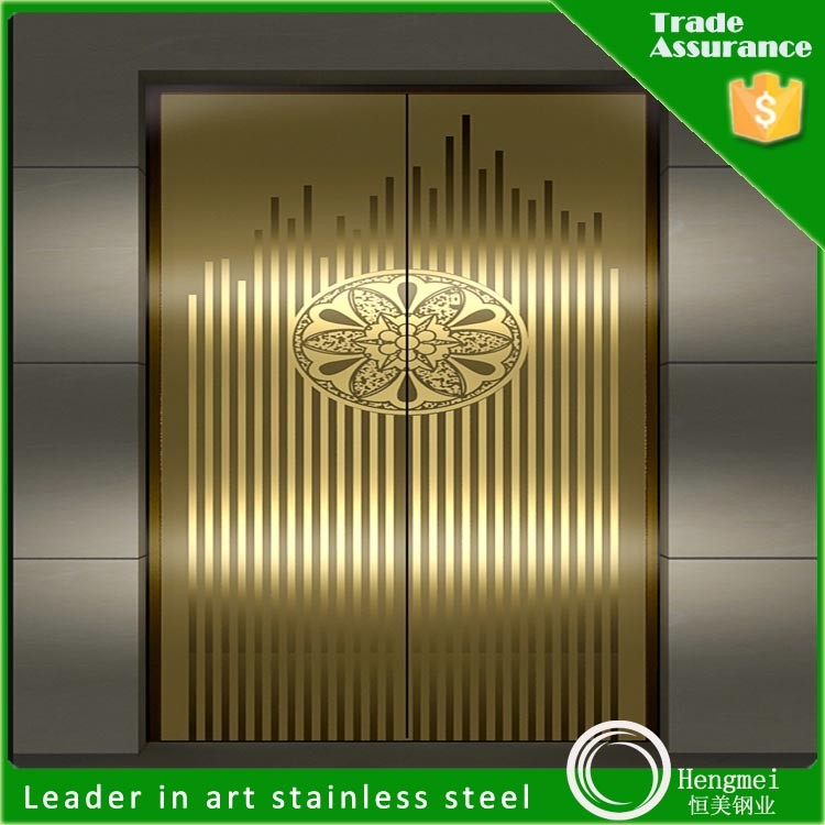 inox 304 gold mirror stainless steel sheet elevator decorate parts