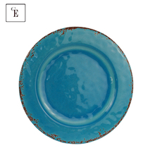Blue Rustic Custom print melamine <strong>plates</strong> own design wholesale supplier dinner