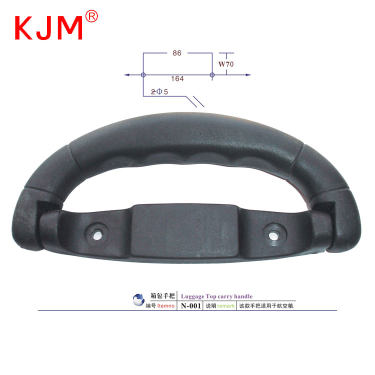 Manufacturer price durable luggage part top carry pull handle replacement suitcase plastic handle