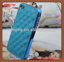 Factory price luxury leather case for iphone 4