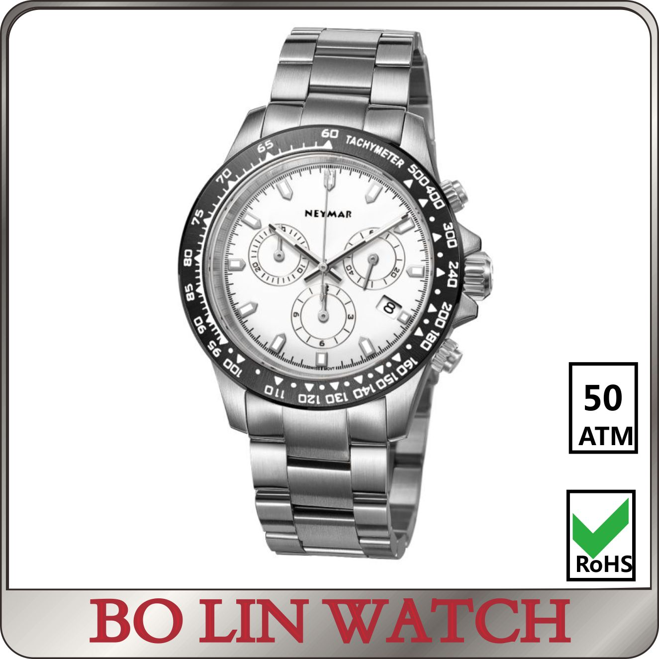50ATM Top brand mens personalized king quartz watches chronograph 2018 watches men