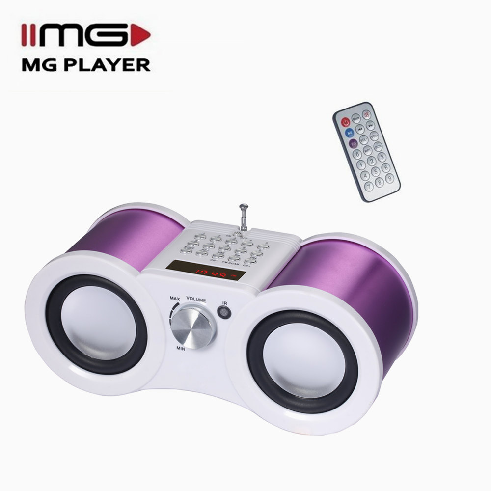 MG portable am fm radio with mini speaker supporting usb sd M-066R can select songs high quality