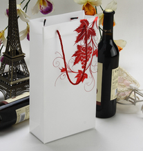 Fresh style plastic wine bottle carrier bag /custom waterproof plastic cooler wine bag/scrub plastic wine bags