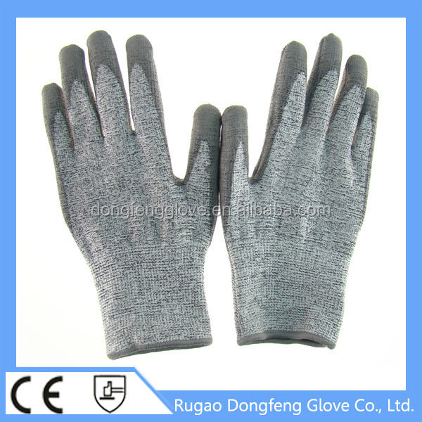 Comfort,softness,coolness and cut protection high modulus Anti slash knife protect steel glass cut proof gloves level 5 working