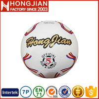 HS018 2016 wholesale cheap colorful rubber soccer ball