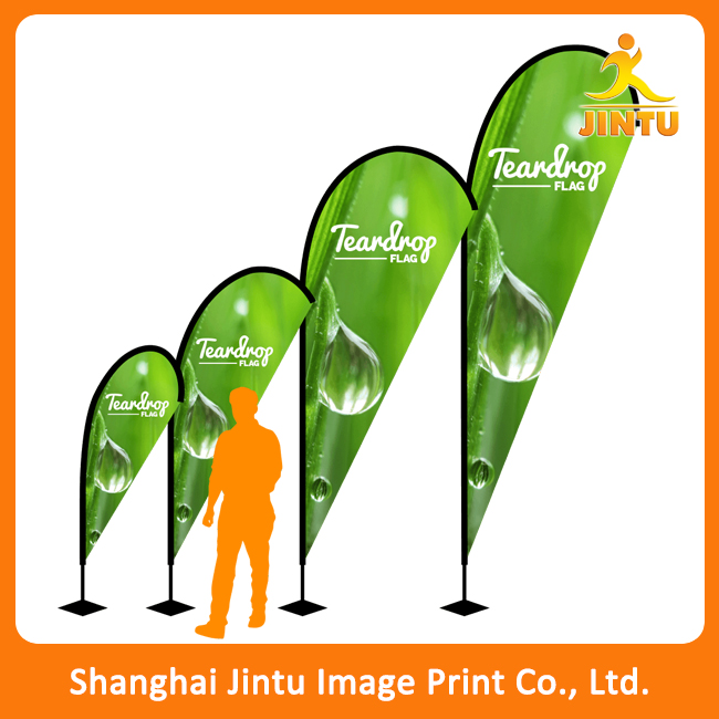 2016Outdoor advertising fiberglass pole polyester flag teardrop banner, outdoor teardrop flag beach flag