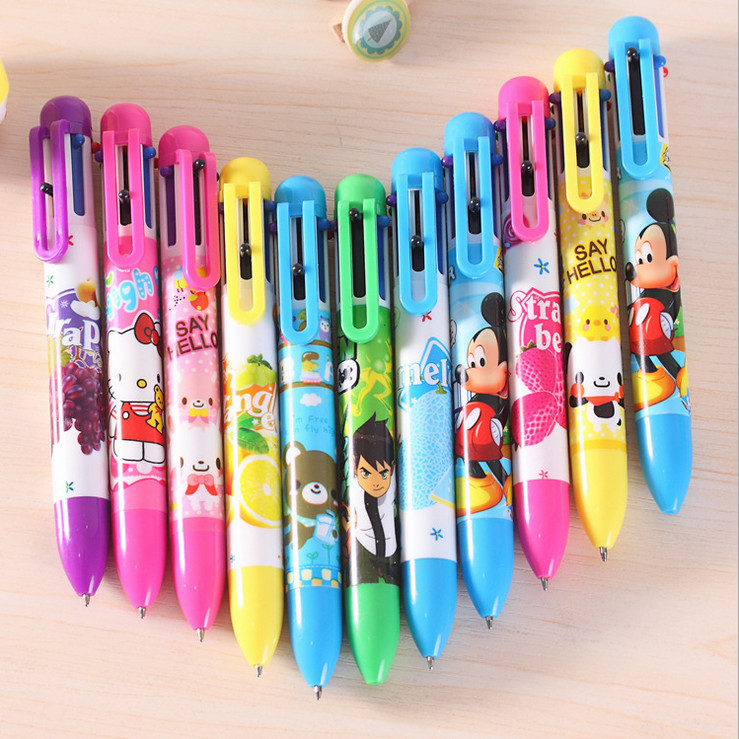 promotion best selling multi-color pen/fashion design promotion gift multi-color pen/6 8 10 12 color ball pen