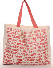 Letters with full of printing canvas Grocery Tote,OEM customized canvas tote bag with gusset.