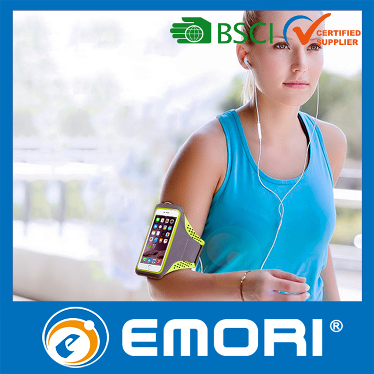 Wholesale logo printed portable jogging armband