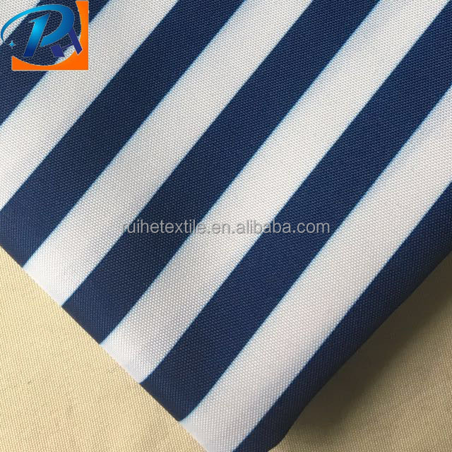 Upholstery stripe on white Waterproof Outdoor furniture fabric