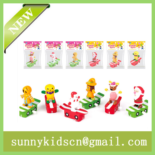 New Christmas wind up toy capsule toy promotional gift
