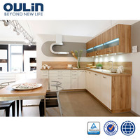 Oulin hot selling toppest quality modern simple kitchen designs for project