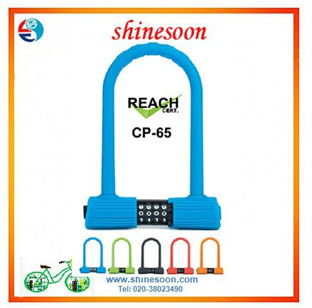 hot sale bike U lock /silicone overmoulded combination bicycle cable lock with high quality