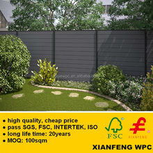 Made In China New Products WPC Fencing Wood Plastic Composite Boards Fireproof WPC Outdoor Fence