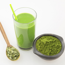Organic matcha green tea powder from tea leaves for drinks